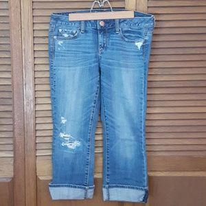 American Eagle Vintage Flare Cropped Jeans Sz 4